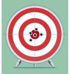 Target with bullet traces in the Center vector