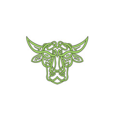 Taurus bull celtic knot vector