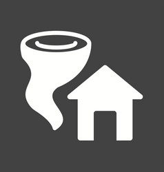 tornado hitting house vector image