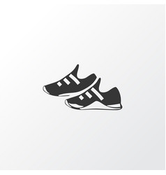 Trainer shoes icon symbol premium quality vector