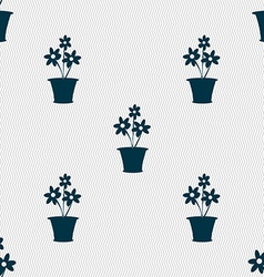 vase of flowers icon sign Seamless pattern with vector image