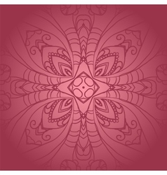 Vegetable dark pink flower ornament vector