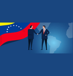 venezuela international partnership diplomacy vector image