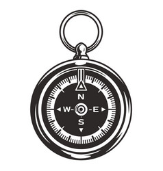 Vintage navigational compass concept vector