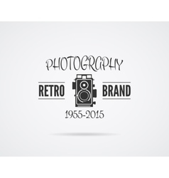 Vintage Photography Badge Label Monochrome vector image