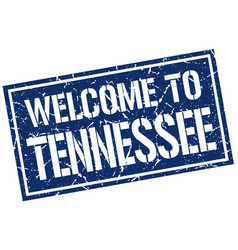 welcome to tennessee stamp vector image