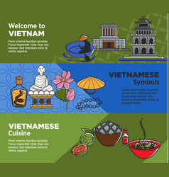 Welcome to vietnam promotional banners with vector