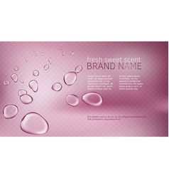 3d pink poster with watery vector
