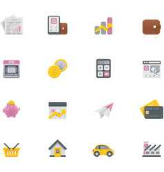 banking icons vector image vector image