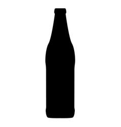 beer bottle black color icon vector image vector image