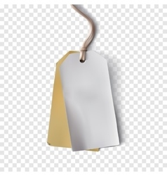 Blank Paper Tag vector image