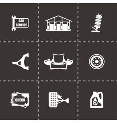 Car sevice icon set vector image