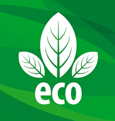 eco logo in the form of leaf vector image