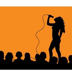 female singer vector image vector image
