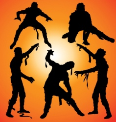 Mummy silhouettes vector