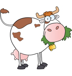 white dairy cow vector image vector image