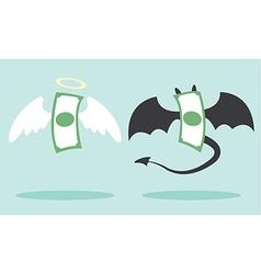 angel money and devil money vector image