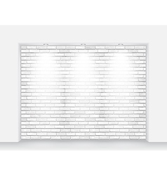 brick niche with light vector image