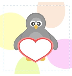 cute penguin vector image