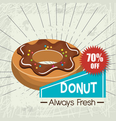 icon donuts design isolated vector image
