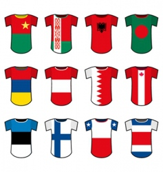national soccer uniforms vector image