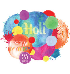 the poster for the festival of holi vector image