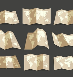 World map collection Design elements vector image vector image