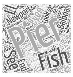 Balboa Pier In Newport Beach Word Cloud Concept vector image