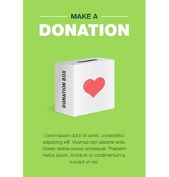 Charity and donation poster set Flat design For vector image vector image