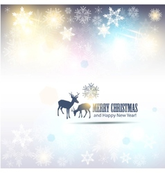 elegant christmas background with snowflakes and p vector image vector image