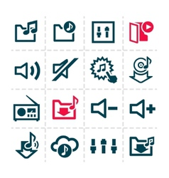 music line icons vector image