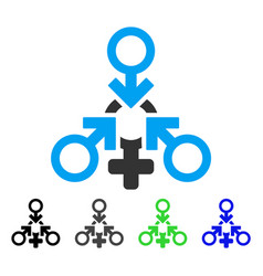 triple penetration sex flat icon vector image vector image