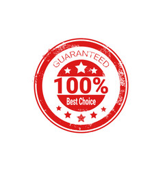 best choice stamp red grunge seal isolated sticker vector image vector image