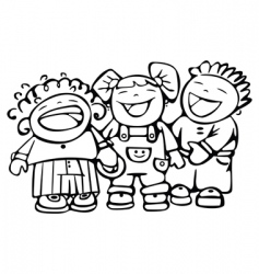 children laughing vector image vector image
