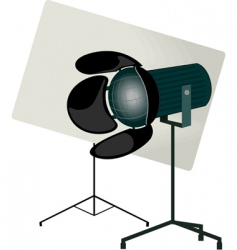 cinema light vector image