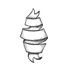 Hand drawn old ribbon vector image