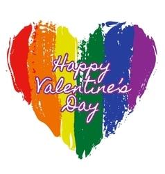 Heart in rainbow colors vector