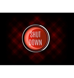 Shut Down Button vector image vector image