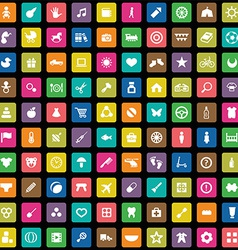 100 bakids icons set vector