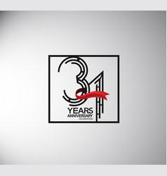 31 years anniversary logotype flat style vector