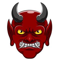 A devil cartoon character vector