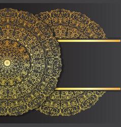 abstract ornament mandala design invitations vector image