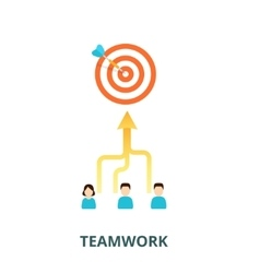 Achievement of results concept Team is committed vector image vector image