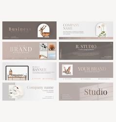 Aesthetic business banner editable design vector