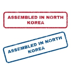 Assembled In North Korea Rubber Stamps vector