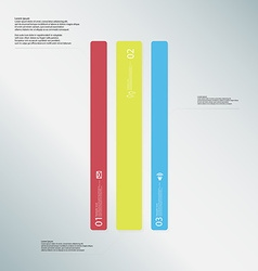 Bar template consists of three color parts on vector