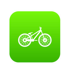bike icon digital green vector image