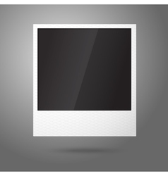 Blank instant photo frame in air template vector