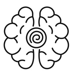 Brain hypnosis icon outline style vector