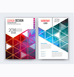 brochure flyer design layout template size a4 vector image